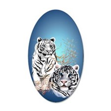 Two White Tigers  441_iphone Wall Decal