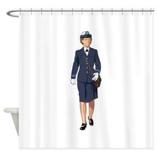 Woman Naval Officer Shower Curtain