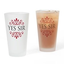 yessir Drinking Glass