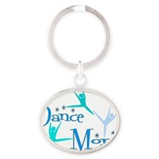 Dance Mom 3 Oval Keychain