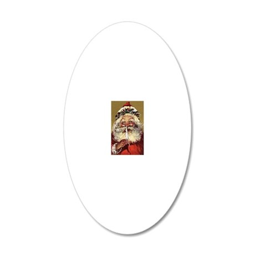 Vintage Santa 20x12 Oval Wall Decal