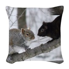BlKSqTile Woven Throw Pillow