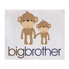 monkey big brother Throw Blanket