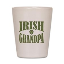 Irish Grandpa with Shamrock Shot Glass