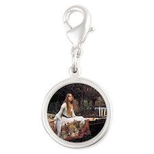 Lady of Shalott Silver Round Charm