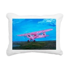 Pink Piper Cub Rectangular Canvas Pillow
