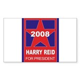 Harry Reid for President (sta Sticker (Rectangular