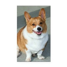 welsh corgi Rectangle Car Magnet