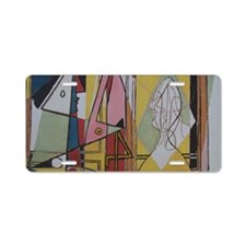 Picasso Flamingos Aluminum License Plate