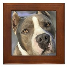 Cool American staffordshire Framed Tile