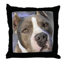 Unique Pitbull art Throw Pillow