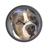 Cute American staffordshire terrier art Wall Clock