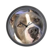 Unique American pitbulls terriers Wall Clock