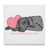 Black UC Holds Heart Tile Coaster