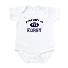 Property of korey Infant Bodysuit