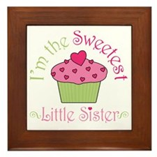 sweetest_little_sister Framed Tile