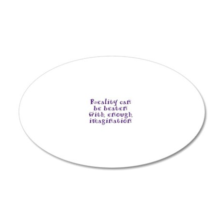 reality_btle3 20x12 Oval Wall Decal