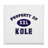 Property of kole Tile Coaster
