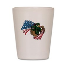 American Eagle Soldier Shot Glass