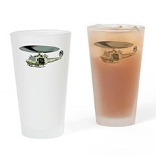 Military Helicopter Drinking Glass