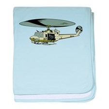 Military Helicopter baby blanket