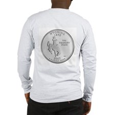 2007 Wyoming State Quarter Long Sleeve T-Shirt