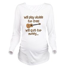 funny ukulele uke de Long Sleeve Maternity T-Shirt