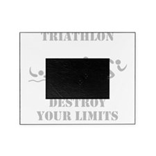 Triathlon Destroy Grey Picture Frame