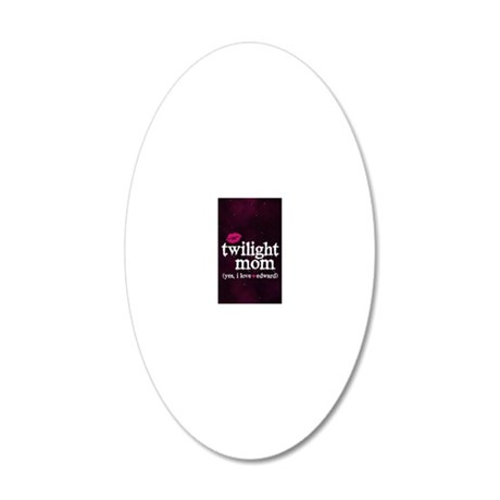 443 TwiMomPink 20x12 Oval Wall Decal