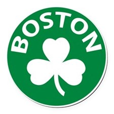 Boston2 Round Car Magnet