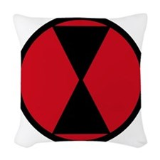 7th Infantry Division Woven Throw Pillow