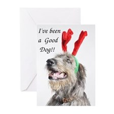 Artemis Christmas Antlers Greeting Cards (Pk of 20