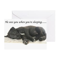 Sleeping Irish Wolfhound Puppy Greeting Card
