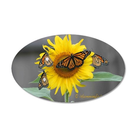 monarch yard sign 35x21 Oval Wall Decal