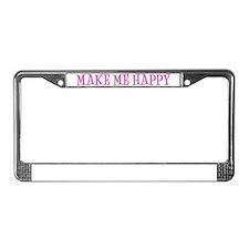 MGbeadsNbigHappyTp License Plate Frame