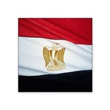 "egyptflag Square Sticker 3"" x 3"""