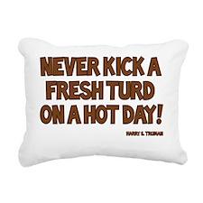 Truman Quote - Never Kic Rectangular Canvas Pillow