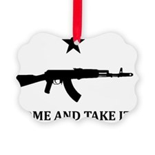 AK47 -COME AND TAKE IT- White Ornament