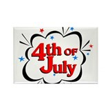 4th of July Rectangle Magnet (10 pack)
