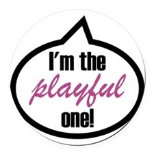 Im_the_playful Round Car Magnet