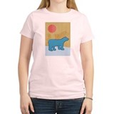 Blue Bear Women's Pink T-Shirt