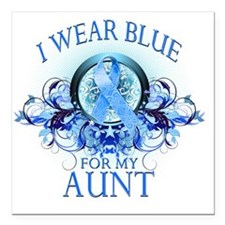 "I Wear Blue for my Aunt  Square Car Magnet 3"" x 3"""