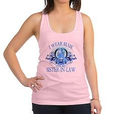 I Wear Blue for my Sister In La Racerback Tank Top