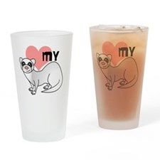 Silver Ferret Drinking Glass