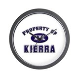 Property of kierra Wall Clock