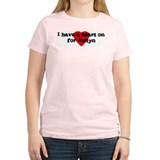 Heart on for Joslyn Women's Pink T-Shirt