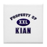 Property of kian Tile Coaster