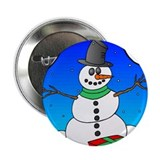 "Winter Snowman 2.25"" Button (10 pack)"