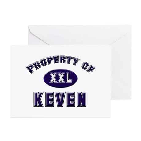 Property of keven Greeting Cards (Pk of 10)