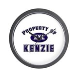 Property of kenzie Wall Clock